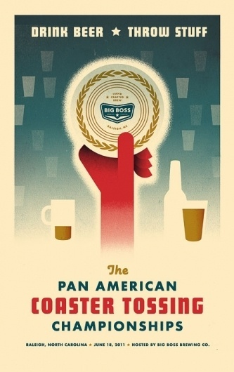 Pan American Coaster Tossing Championships Posters #poster #beer #branding