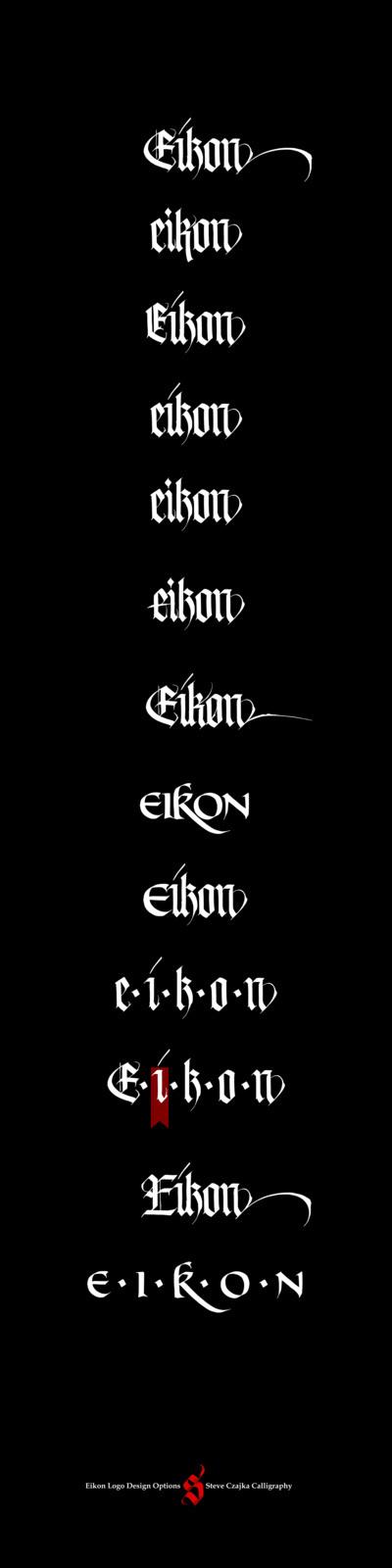 Eikon Design Group #truck #calligraphy #steve #lettering #business #guide #design #gothic #czajka #identity #manual #signs #logo #letterhead #cards