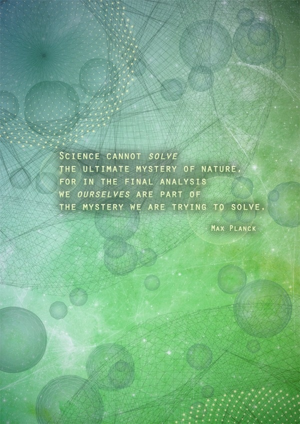 Science Quotations Posters #max #planck