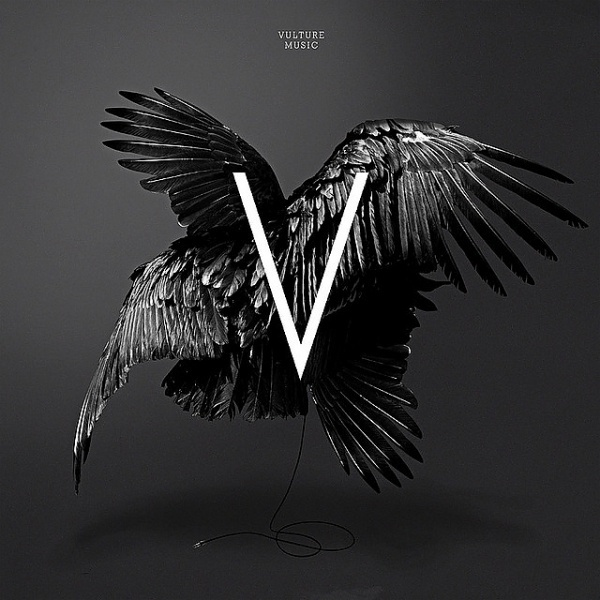 VIOLENCE GRAPHIQUE #vulture #print #black #bird #letter #square #central #music