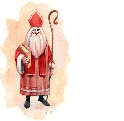 #christmas #illustration #sinterklaas