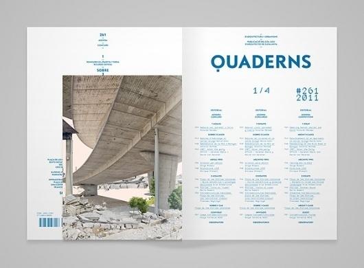 MagSpreads - Magazine Design and Editorial Inspiration: Quaderns Architecture magazine