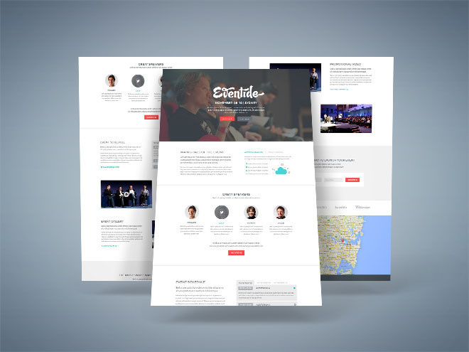Eventide : Event Landing Page PSD Template