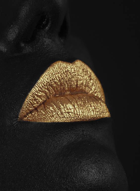 Sex Monsters - Lorenzo Fariello #woman #lips #sensual #photography #vintage #gold #sex