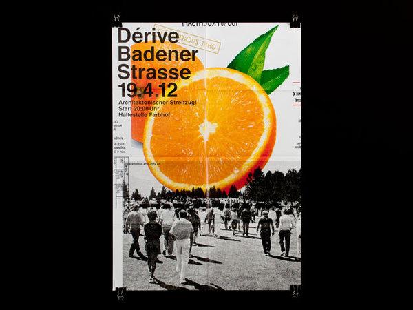 ATLAS, studio for graphic design, Zurich/Switzerland #collage #orange #poster