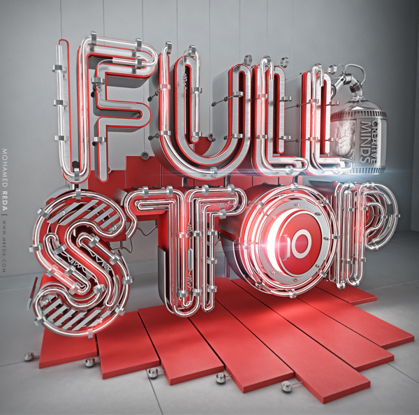 Fullstop on Behance #3d #full #typo #stop