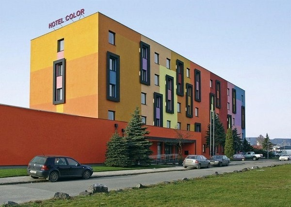 Bratislava a Hotel Color with modern bright exterior #bright #architecture #art #exterior #buildings
