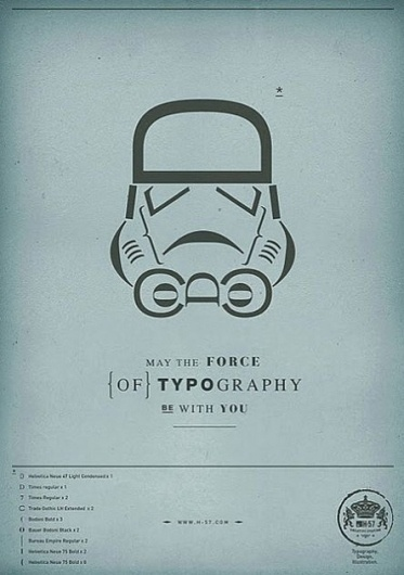 May the force of Typography be with you | Ubersuper #wars #star #typography