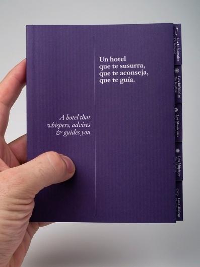 Denit Hotel Barcelona Guide design by Lo Siento Studio, Barcelona #print #design #siento #purple #lo