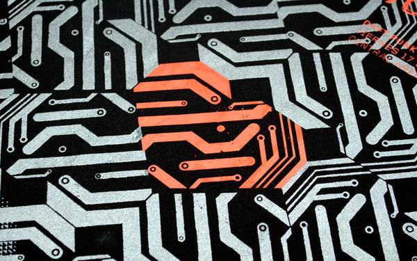 bynerve   Human Machine #punk #nerve #danielcantor #daft #poster