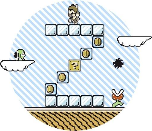 Super Mario Font 3 on Behance #nintendo #mario #super #bros #basile #8bit #typo #francesco