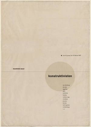 MoMA | The Collection | Jan Tschichold. Die Konstruktivisten (The Constructivists). 1937 #swiss #typography #1937 #design #graphic #tschichold #poster #jan #new