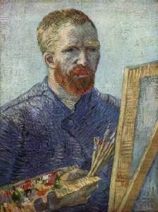 Vincent Van Gogh, Self-Portrait in front of the Easel (1888)