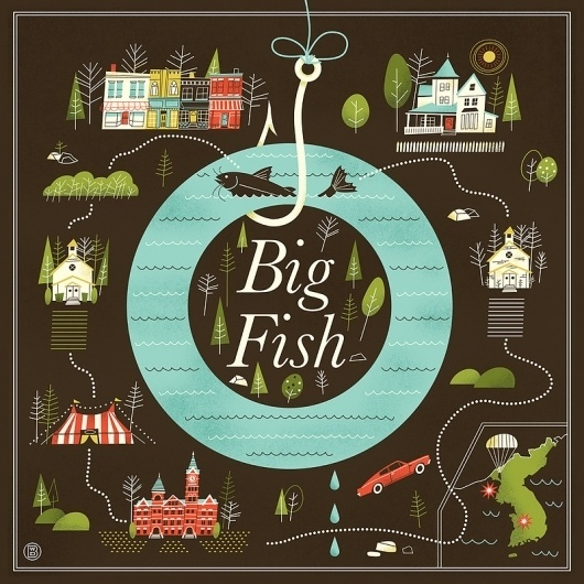 Big fish art print by brad woodard society6 for Big fish screen printing