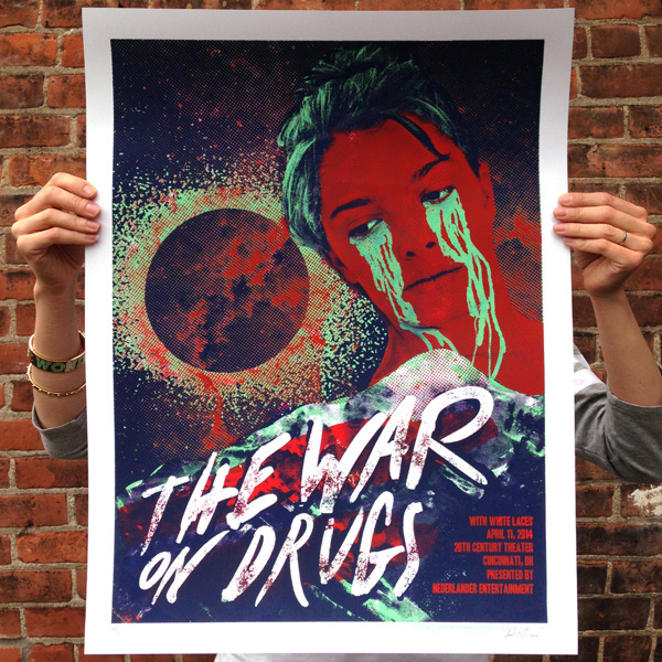 The War On Drugs on Behance #gig #print #war #drugs #the #screen #on #poster #crying