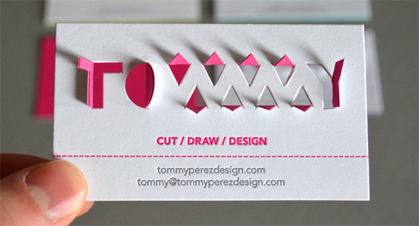 Tommy Perez Paperkut #card #cut #die #business