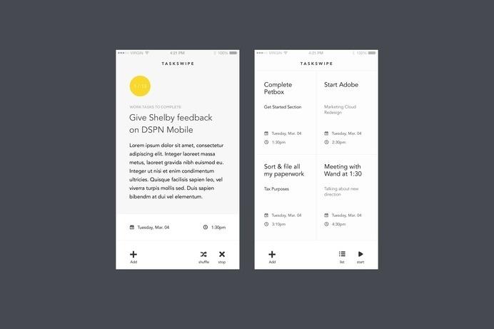 #tasking #ios #mobile #design #dribbble