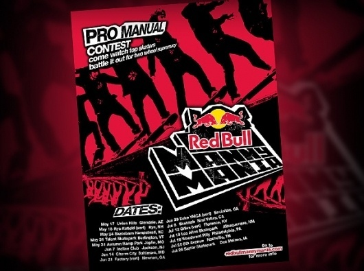 Sacramento Web Design, Web Development, Print Design, Audio & Video, Content Management, eCommerce, Logo, Brand & Identity - Joint Medias - Redbull - #red #jointmedias #skate #poster #bull