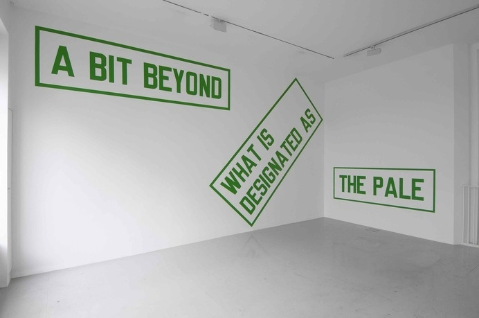 WM | whitehot magazine of contemporary art | March 2008, Lawrence Weiner and Florian Pumhosl @ Lisson Gallery #brutalist #brutalism #conceptual #weiner #art #lawrence #type