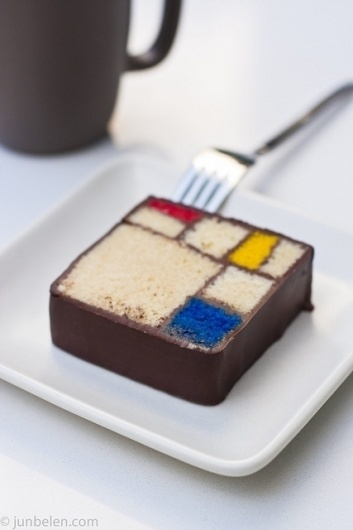 Piet Mondrian #edible #art #copy