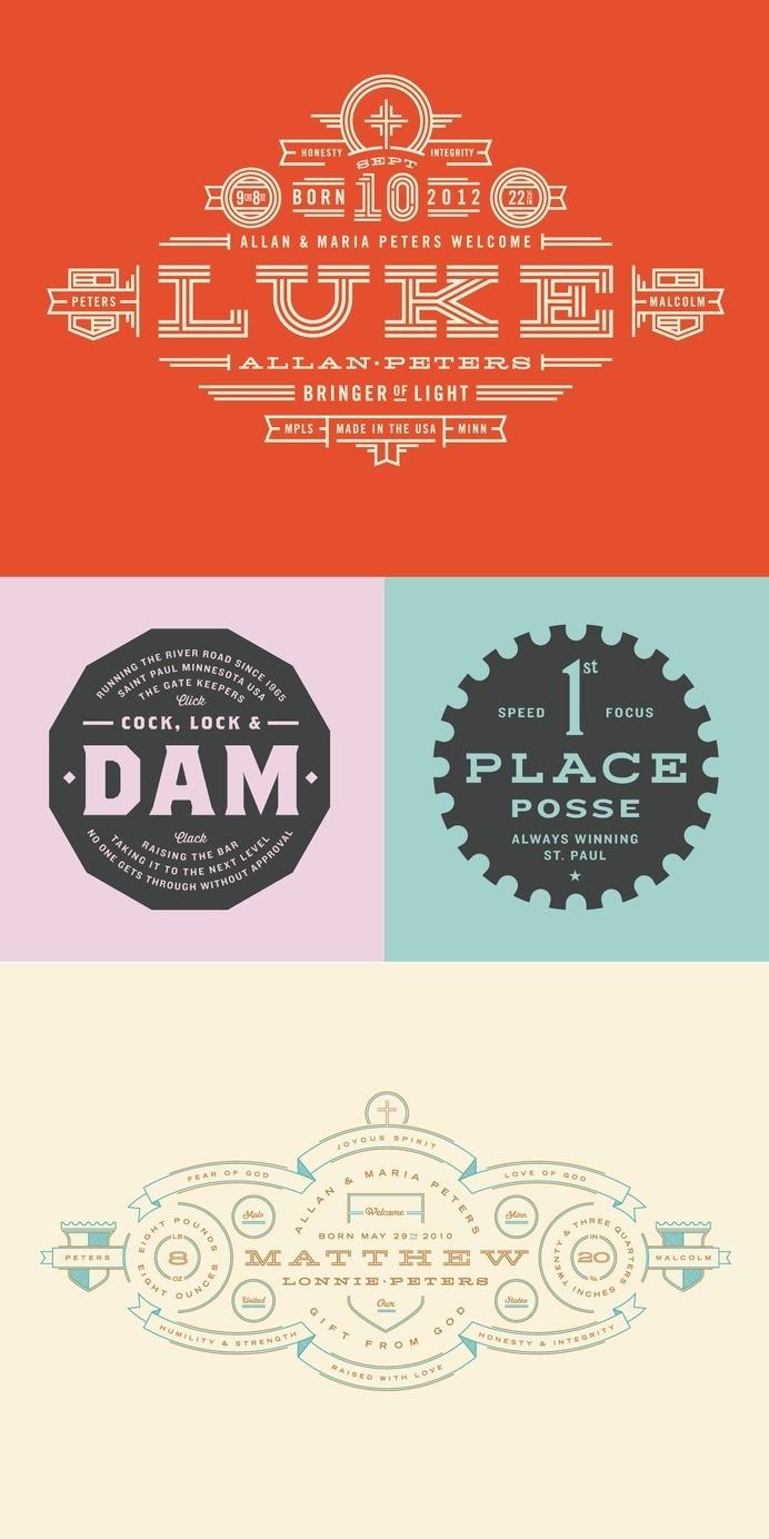 Badges - Allan Peters #badges #logos
