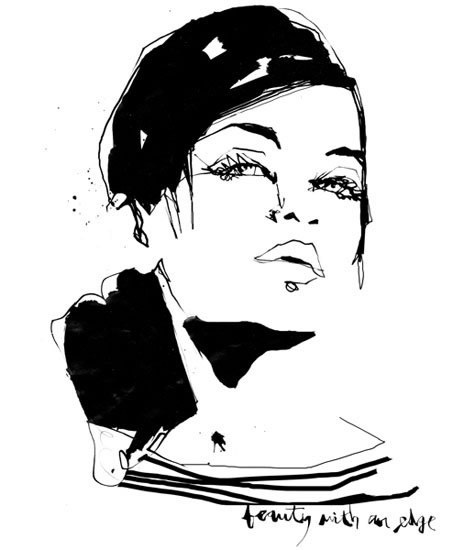 Beauty With An Edge by Stina Persson #illustration #ink #drawing