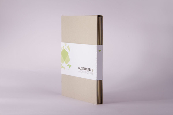 Sustainable architecture - book on Behance #geometry #architecture #book