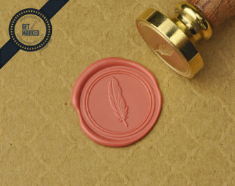Feather - Wax Seal Stamp by Get Marked (WS0346)