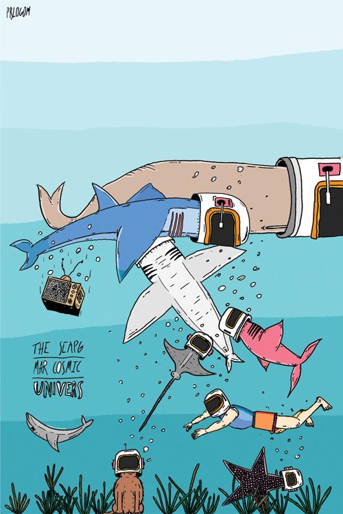 The sea pg #ilustration