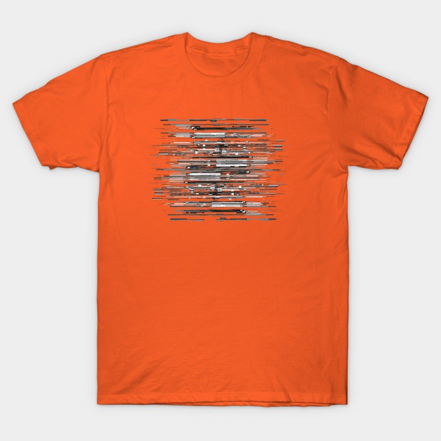 Graphic Code Lines - Textured Design - T-Shirt | TeePublic