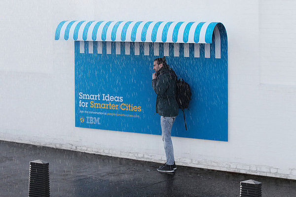 IBM's Billboards Double As Benches, Shelter, And Ramps | #ibm #ads