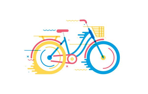 Bicicletas on Behance #bicycle #movement #vector #bike