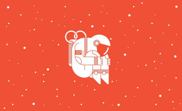 The Cosmonaut, by Goran #inspiration #creative #austronaut #design #graphic #illustration #stars