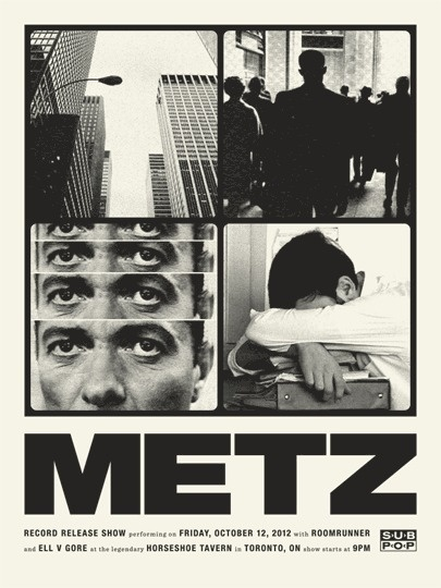 Metz #print #graphic design #typography #poster #photography #band #concert poster
