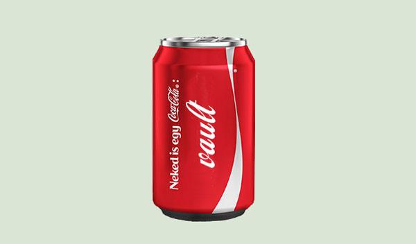 Coca Cola Pop Can PSD Mockup