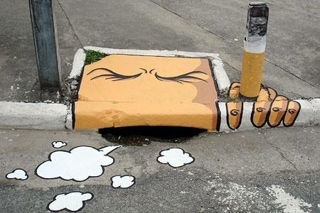 Street art that'll have you laughing like a drain | Metro.co.uk #graffiti #wit #drain #street