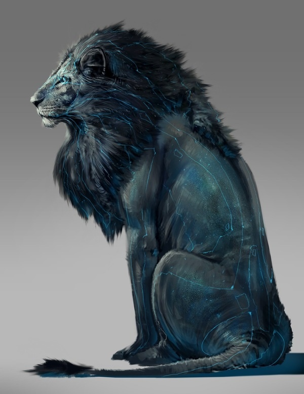 Illustration Now! #lion #light #tron