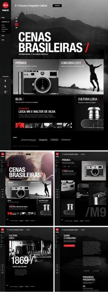 a40bb6845f75360ed968d19e11225aec.jpg (600×1612) #big #leica #webdesign #web #layout #dark #typography