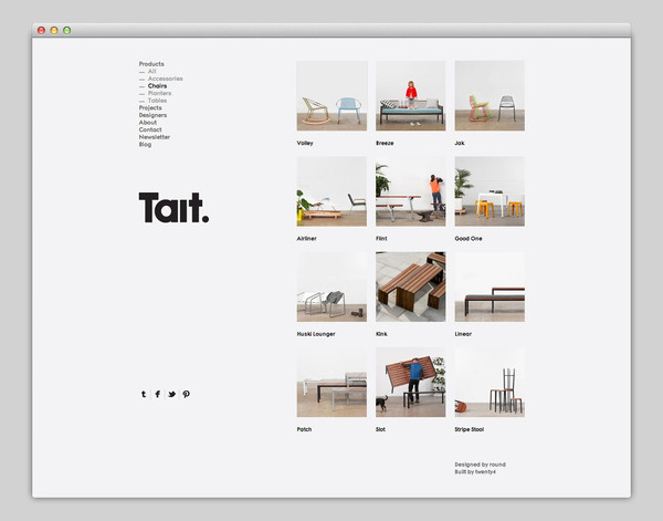 Tait #website #grid #layout #web