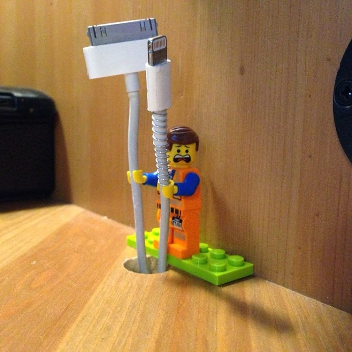 LEGO Minifigs comes to life and becomes your cable manager while adding a splash of colour to your environment. #design #product #industrial