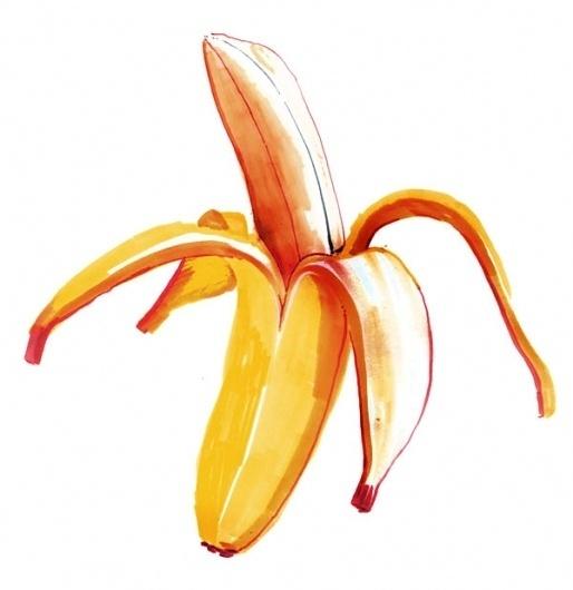 The New York Times : Holly Wales #holly #illustration #banana #wales