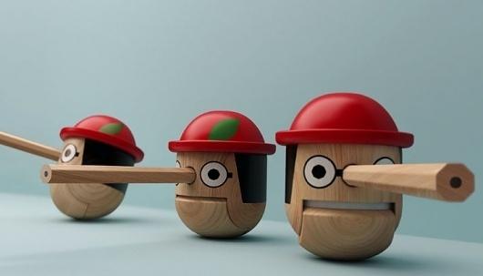 Honest Pinocchio by Mike He | Yatzer™ #figure #pinocchio
