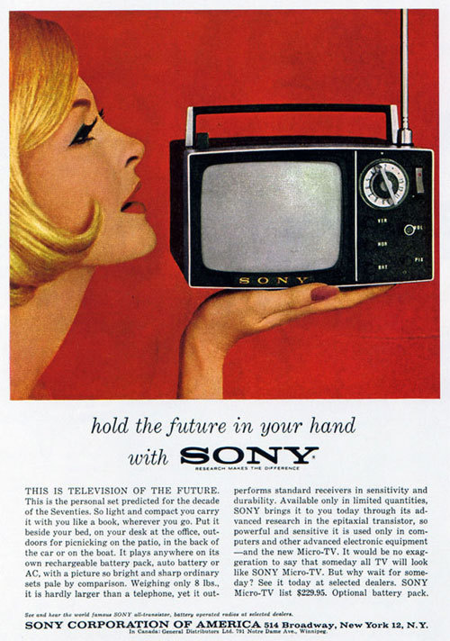 sony hold the future #print #vintage #advertising