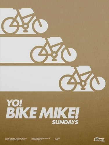 All sizes | Yo! Bike Mike! Poster | Flickr - Photo Sharing! #design #graphic #bike