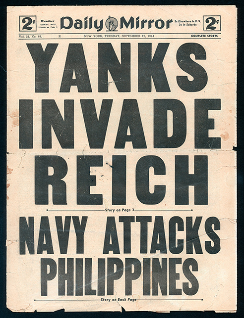 WWII era Daily Mirror covers #typography #newspaper
