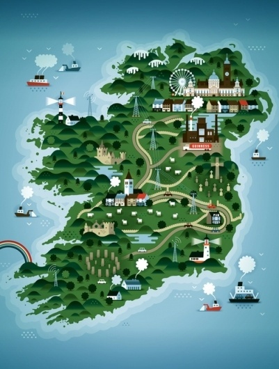 KTRON Maps - Society6 #design #graphic #landscape #digital #illustration #poster