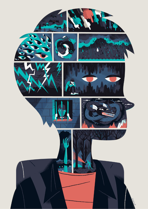 """""""My piece for the charity Mindfull"""" by Steve Scott #inspiration #design #graphic #illustration #art"""