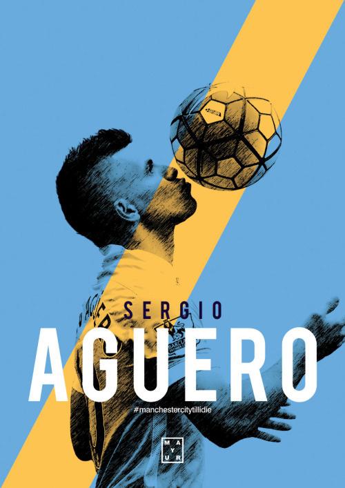 Sergio Aguero Poster Design