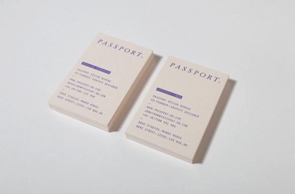 Passport Branding / Identity #business #branding #letterpress #identity #passport #blue #cards