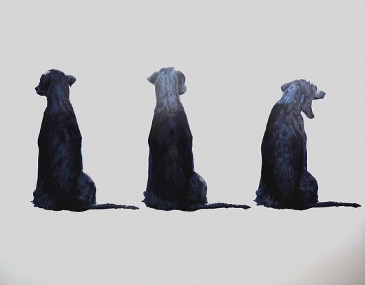 Saatchi Online Artist: eugene wolfberg; Oil, Painting #watercolour #dog